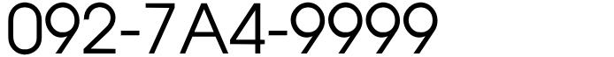 092-7A4-9999 福岡市中央区エリア・天神・大濠・赤坂・薬院・大名・固定電話良番ゾロ目