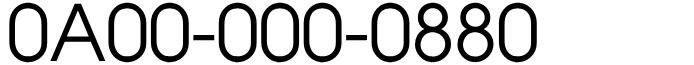 良番フリーダイヤル末広がり0A00-000-0880