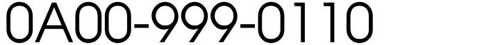 良番フリーダイヤル110番!0A00-999-0110