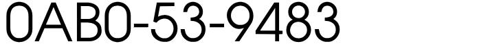 良番フリーダイヤル語呂合わせ0AB0-53-9483