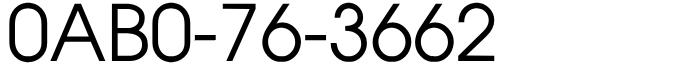 良番フリーダイヤル語呂合わせ0AB0-76-3662