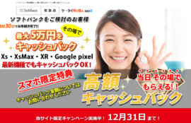 ケータイ乗り換えドットコム・株式会社ライト通信・高額キャッシュバック情報!12月31日まで